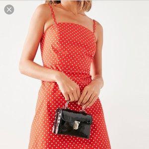 Red poka dot dress Urban Outfitters!